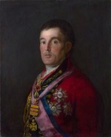 Portrait of Duke of Wellington, painted by Goya, 1812-1814