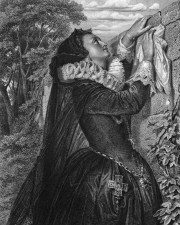 Altering History as Schiller did in his Maria Stuart: print of Mary in 1859 production of Schiller's Maria Stuart