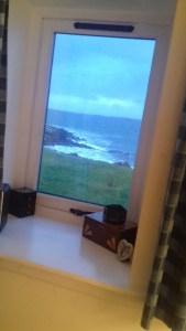 view of sea from Sarah's new bedroom