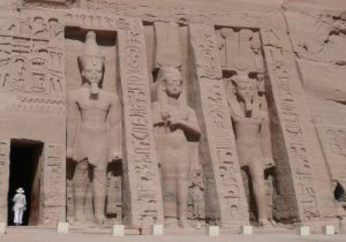 Exterior Small Temple at Abu Simbel on the Nile
