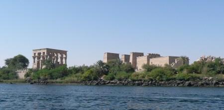 Philae island on Nile at Aswan