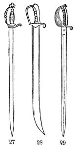 18th and 19th century swords