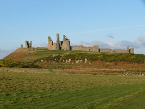 ruins of Dunstanburgh Castle from the land side