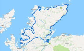 map of North Coast 500