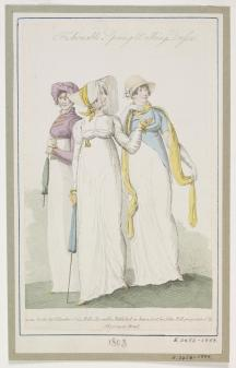 1808 fashion print with parasols © Victoria & Albert Museum, London