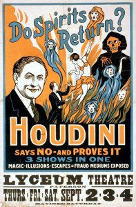 poster of Houdini on stage