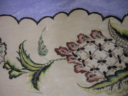 close-up of embroidery