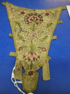 embroidery on stomacher