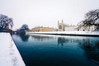 Cambridge University in winter Adobe library image