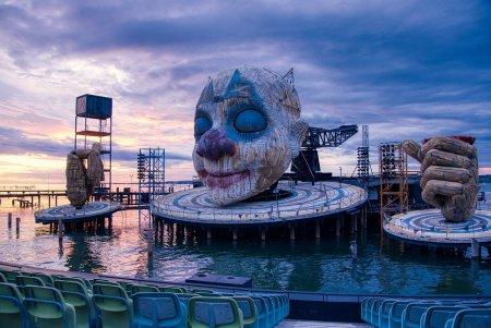 Stage for Rigoletto, Bregenz, 2019