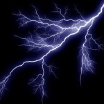lightning in stormy weather