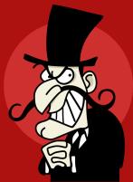 cartoon of villain