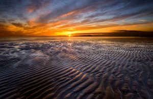sunset over the Solway Firth, Scotland