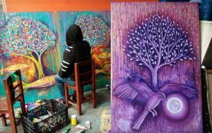 obras que se presentaran en la muestra Carlos Bazan