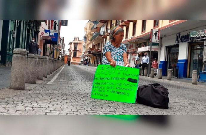 Vendedores ambulantes protestaron