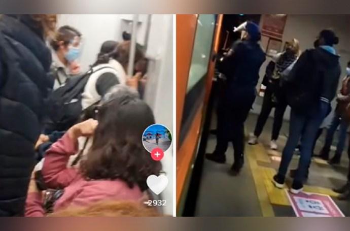 Descubren a chofer de la Línea 12 del Metro de la Ciudad de México teniendo relaciones