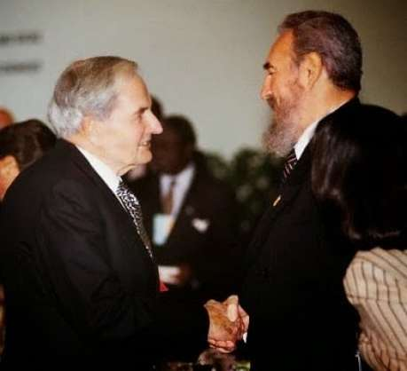 Image result for picture of fidel Castro with david rockefeller