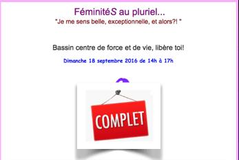 Stage FéminitéS au pluriel… du 18 septembre 2016