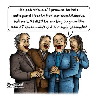 libertarian, cartoon, big government, politics, politician, establishment