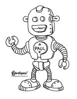 cartoon, graphic, illustration, libertarian, color page, color sheet, adult coloring page, kids craft, robot