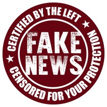 fake news, logo, leftism, left, censorship, censored, protection
