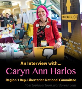 Caryn Ann Harlos, libertarian, libertarian national committee, libertarian party, interview, libertopia