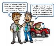 Cartoon, libertarian, political cartoon, Uber, Lyft, free market, politicians, statism, politics, crony capitalism