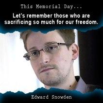 Edward Snowden, Memorial Day, freedom, liberty, libertarian, voluntaryist, meme, remembering, honoring