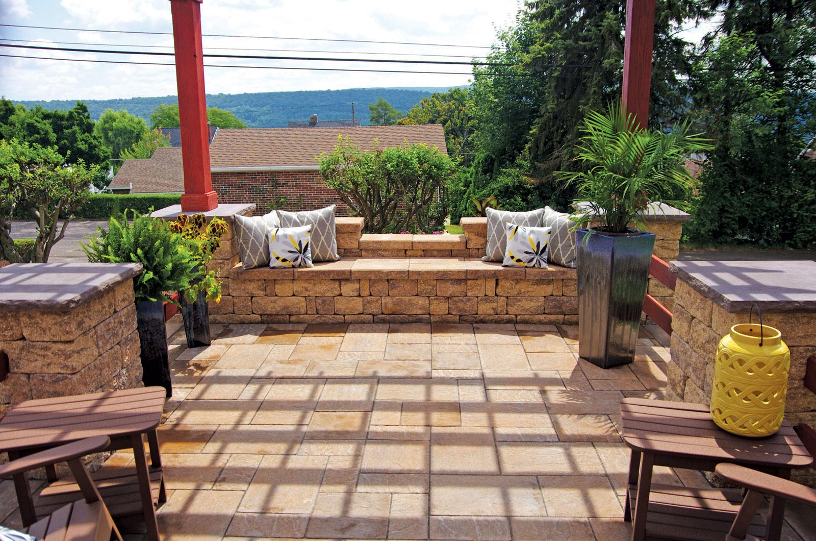 Backyard Patios - LibertyStone Hardscaping Systems on Backyard Patio  id=49539