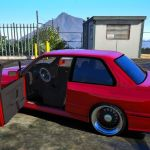 Bmw E30 M3 Addon Replace Detailed Engine Detailed Interior Custom Tuning 1 For Gta 5