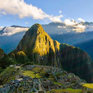 Sunlight pouring down on Machu Picchu