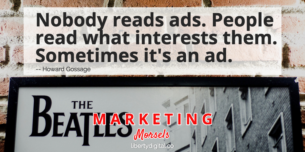 Advertising that connects