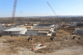 Work on the Waste Water Treatment Plant continues