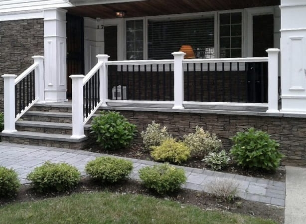 Outdoor Vinyl Pvc Aluminum Railings Liberty Fence Railing | Pvc Railings For Steps | 3 Step | Plastic | Corner Interior Stair | Steel Vertical Balustrade White Handrail Post | Design