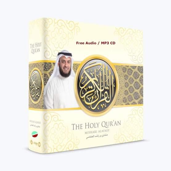 The Noble Quran (Arabic Only) – Mishary Rashid Alafasy – (Audio / MP3 CD)