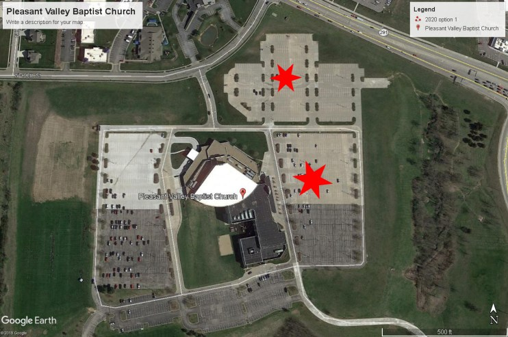 Pleasant Valley Baptist Church parking