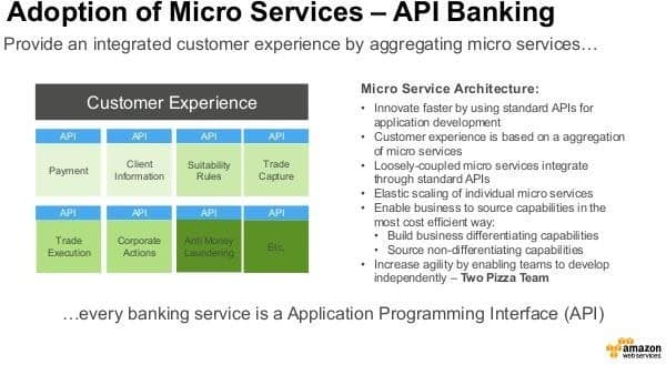 Adoption of Micro Services - Application Programming Interface.