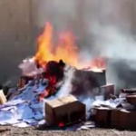 VIDEO: ISIS Extremists Burn Hundreds Of Christian Books In Northern Iraq