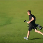Why is This Golfer Running?  The Answer May Seem Logical