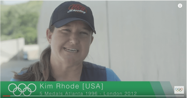 Kim Rhode (Screen snip, YouTube, Olympic Channel)