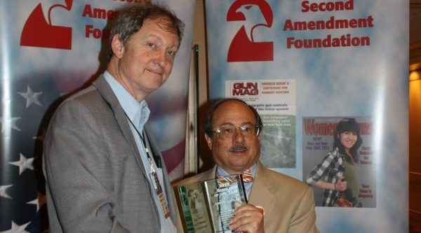 John Lott, with Alan Gottlieb, at the Gun Rights Policy Conference. [Dave Workman]