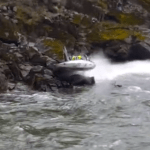 High Speed Race Boat Hits The Rocks, And The Drivers Miraculously Survive! [VIDEO]