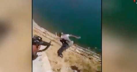GRAPHIC VIDEO: Victorious Iraqi Troops Throw ISIS Fighters Off Cliff