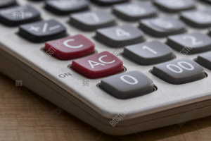 close up of calculator buttons