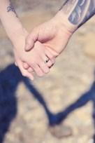 Kat and Chris Saunton Sands beach engagement pre wedding shoot