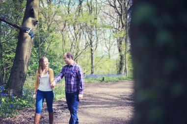 Anna and Ed pre wedding shoot Bluebell Woodlands, Bristol