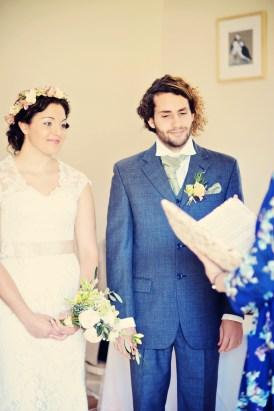 English country garden styled wedding photo shoot Cosawes Barton Cornwall 1