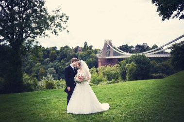 Liberty Pearl Bristol wedding photographer Clifton Village suspension bridge 6