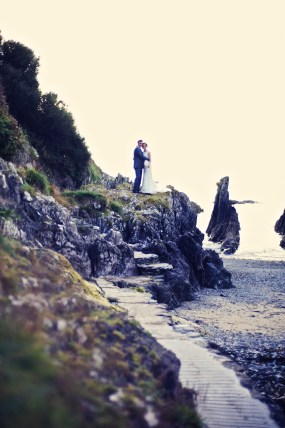 Liberty Pearl natural wedding photographer Cornwall Polhawn Fort beach 22