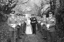 Trevenna Barns Cornwall military rustic winter wedding 112